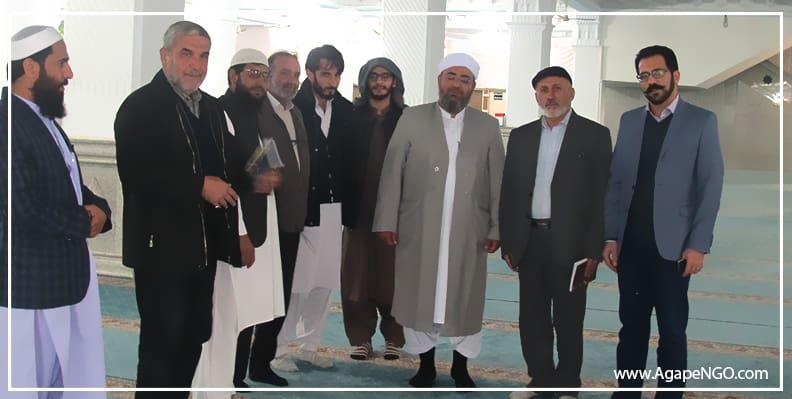 حضور مدیران آگاپه در مسجد جامع مکی زاهدان